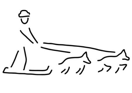 Hundeschlitten-rennen-schlittenhunde
