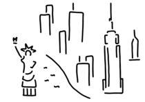 new york freiheitsstatue empire wolkenkratzer von lineamentum