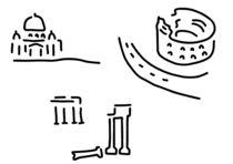 rom kolloseum petersdom forum von lineamentum
