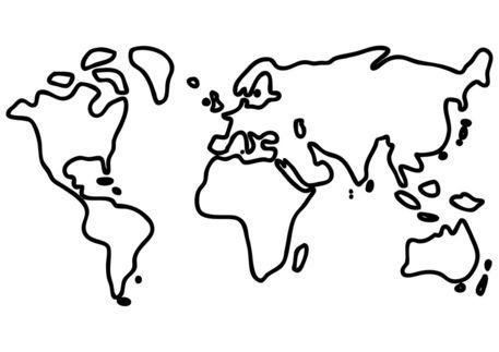 Atemberaubend Weltkarte Zum Ausmalen Fotos - Framing Malvorlagen ...