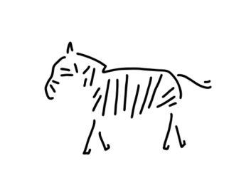 Zebra-afrika-zebrasteifen