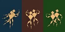 Tänzer Triptychon von dresdner
