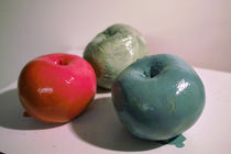 Adam und Eva im Zank um die Äpfel von Reiner Poser