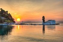 The sunrise in Panagia Vlacherna at Corfu, Greece by Constantinos Iliopoulos