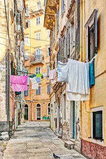 The alleyways in Corfu, Greece by Constantinos Iliopoulos
