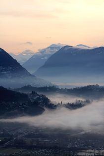 Blick nach Lugano von Bruno Schmidiger