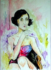 Ada drinks Champagne by Angelika Welter