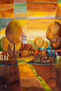 Dorf am Abend von Doro T