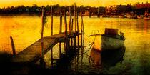 Boot im Abendlicht von freedom-of-art