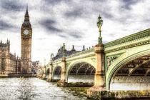 Westminster Bridge London Art by David Pyatt
