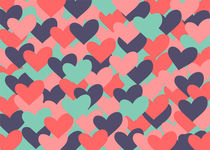 Colorful hearts von decoravie
