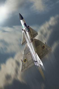 Viggen in de sky by Peter Scheelen