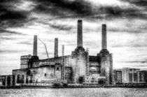 Battersea Power Station London Snow von David Pyatt