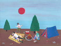 A nice day for camping von Angela Dalinger