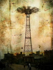 Coney Island Eiffel Tower by Jon Woodhams