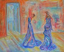 """""""Heimlicher Tanz"""" 50x60 Ölbild von Silvia Kafka"""