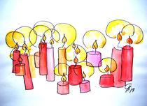 Kerzen Aquarell von Christine  Hamm
