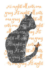 'at night all cats are grey' von Sybille Sterk