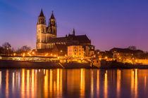 Magdeburg am Abend von Martin Wasilewski