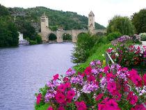 Bogenbrücke Pont Valentrè in Cahors von Sabine Radtke