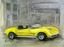 Yellow Corvette by Deborah Willard