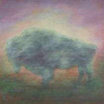 Buffalo at dawn von Ingrid Vollrath