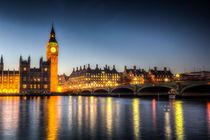 Westminster Bridge and Big Ben von David Pyatt