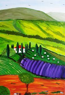 Landschaft mit Acker / Landscape with an acre von Mischa Kessler