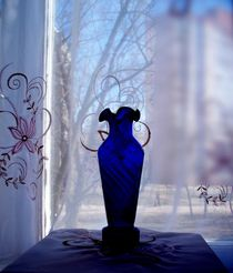Blue Vase in a Window  by Rick Todaro