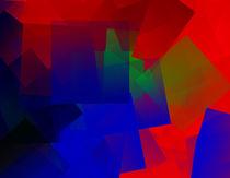 Red Blue Green Abstraction von badrig