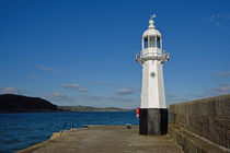 The Lighthouse at Mevagissey Harbour by Paul Martin