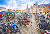 Bicycles in Brugge von Sheila Smart