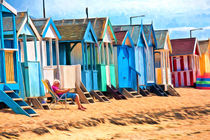 Beach huts at Southend on Sea, Essex by Sheila Smart