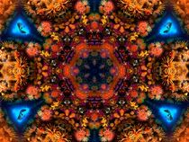 Coral Rainbow Fish Mandala by Richard H. Jones