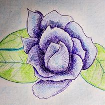 Blue Rose by Christine Chase Cooper