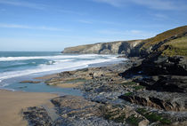 Trebarwith Strand and Penhallic Point, Cornwall, UK by Paul Martin