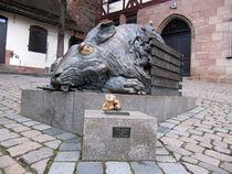 Hasen und Teddybär von Olga Sander
