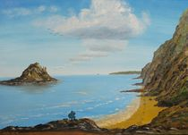 Angler an der Englischen Südküste von Barbara Kaiser