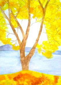 """""""The yellow tree"""" by nellyart"""