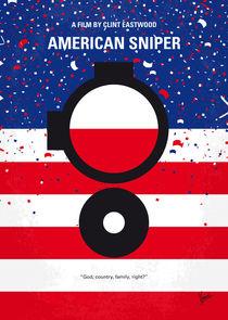 No435 My American Sniper minimal movie poster von chungkong