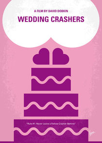 No437 My Wedding Crashers minimal movie poster by chungkong