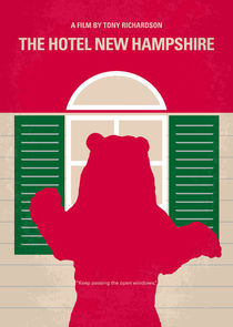 No443 My The Hotel New Hampshire minimal movie poster von chungkong