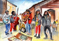 Sineu Street Musicians von Miki de Goodaboom
