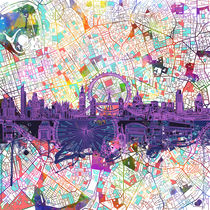 london skyline abstract von bekimart