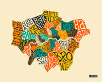 LONDON BOROUGHS TYPOGRAPHY MAP von Jazzberry  Blue