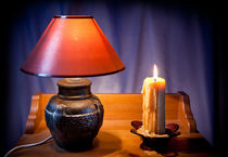 night light lamp and candle by Arletta Cwalina