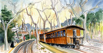 Soller Train Station In Majorca von Miki de Goodaboom