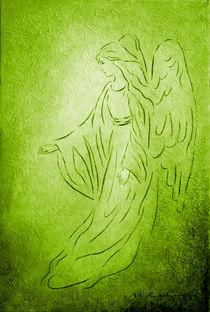 Engel der Heilung - handgemalte Engelkunst by Marita Zacharias