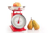 Kitchen red weight scale utensil von Arletta Cwalina