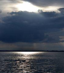 Abendhimmel an der Nordsee von Ute Bauduin
